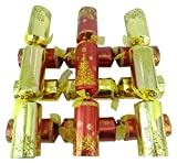 Toyland 6 Large Size Luxury Dinner Party Christmas Crackers - Red & Gold