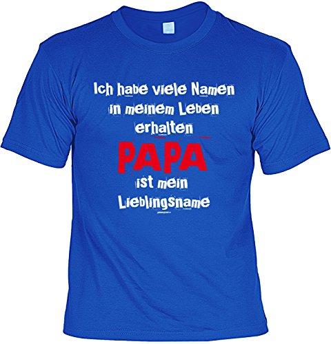 Vatertag Papa T-Shirt Geschenk Geburtstag Weihnachten Vatertagsgeschenk Papa ist mein Lieblingsname Royalblau