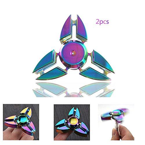 #Fidget Spinner Crab Triangle Fingerkuppen Hand Toy Finger Für Bremskraftbegrenzer Entlastet Und Entspannung Für Kinder Und Erwachsene(Bunte Krabben Triangle)#