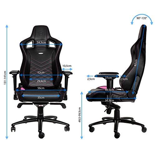 noblechairs EPIC Gaming Stuhl - schwarz/pink -