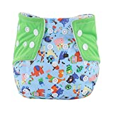 Allouli Waterproof Baby Diaper Cover Cartoon Pattern Owl Baby Diapers Reusable Cloth