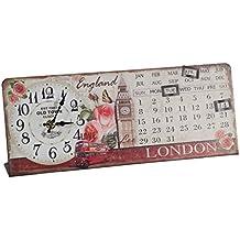 Creaciones meng - Reloj Calendario De Mesa De Forja Ref-12789