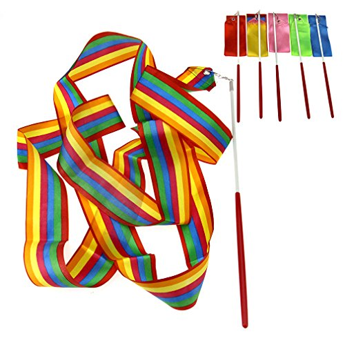 6 x Mix Colours 4M Gym Dance Ribbon Rhythmic Art Gymnastic