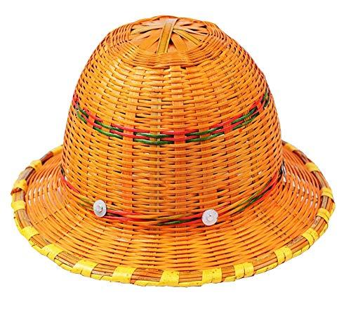 WEN Sommer atmungsaktiver geflochtener Helm aus Bambus, Construction Sunshade Sunscreen Helmet Hardhats -