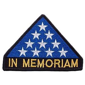 Findingking Halsketten in Memoriam Flagge Patch blau & weiß 7,6cm