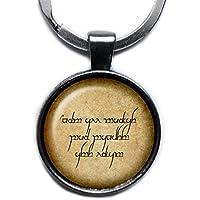 J.R.R. Tolkien Elven Elf Runes Not all those who wander are lost. Keychain Silber Schlüsselanhänger