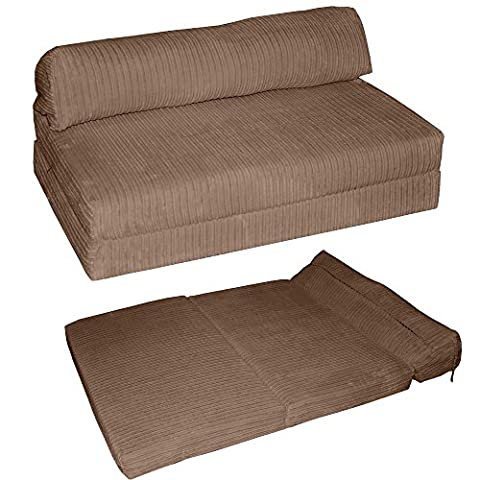 JAZZ SOFABED - JUMBO CORD Deluxe Designer Double Sofa Guest Bed (Mocha)