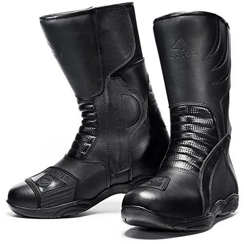 Agrius Bravo Motorcycle Boots 43 Black (UK 9)