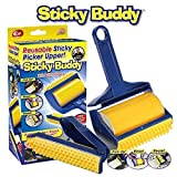 AUF Sticky Lint Roller with Cover,Reusable Washable Travel Dust Picker Cleaner Remover Brush