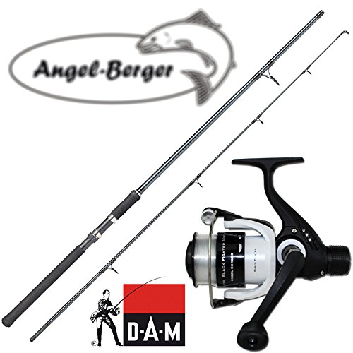 Angel-Berger Angelset Steckrute und Rolle (2.70m Rute + 130 RD Rolle)