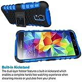 ykooe Galaxy S5 Hülle,S5 Hülle (TPU Series) Dual Layer Hybrid Handyhülle Drop Resistance Handys Schutz Hülle mit Ständer für Samsung Galaxy S5 (Blau) Test