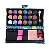 Basi per Ombretto, Ularma 26 Colori Di Trucco Della Gamma Di Cosmetici Ombretto In Polvere Lip Gloss Arrossire (Blu)