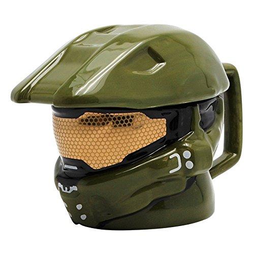 Halo - 3D Keramik Tasse - Master Chief - Helm - Geschenkbox (Halo 4 Helme)