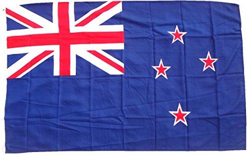 Drapeau/drapeau Nouvelle-Zélande état Drapeau/Pays Drapeau/Hiss Drapeau avec oeillets 150 x 90 cm, Très bonne qualité