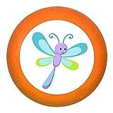 'Poignée de meuble Libellule Violet Turquoise Citron Bleu pétrole bois enfants Chambre d'enfant Animaux de la forêt 1Rêve Enfant