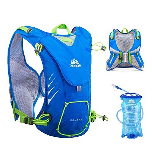 Trinkrucksack Rucksack Laufweste 8L Leichte Outdoor-Rucksack Wasserbeutel 1.5L Bergsteigenbeutel Laufrennen Passt Frauen Männer,Blue