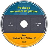Le CD/DVD Premium Package universel de pilotes pour Windows 8.1 / 8 / 7 / Vista / XP (32 & 64 Bit), tous les PC (Desktop/Laptop). Modèles comme par exemple Acer, Apple, ASUS, BenQ, Clevo, Compaq, Dell, DEPO, eMachines, Fujitsu Siemens, Gateway, Geric