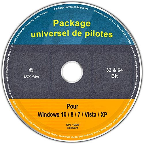 Le CD/DVD Premium Package universel de pilotes pour Windows 8.1 / 8 / 7 / Vista / XP (32 & 64 Bit), tous les PC (Desktop/Laptop). Modèles comme par exemple - Windows Xp-cd Dell