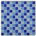 30x Glass Mosaik Fliesen Blau-weiß 2,7 qm von vidaXL bei TapetenShop