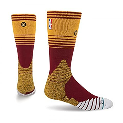 Stance NBA On Court Cavs Socks in Red - Cleveland