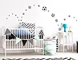 I-love-Wandtattoo WAS-10133 Kinderzimmer Wandsticker Set Fußbälle 25 Stück zum Kleben Wandtattoo Wandaufkleber Sticker Wanddeko