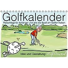 Golfkalender für Anfänger und alle die Spaß am Golfen haben (Tischkalender 2017 DIN A5 quer): Karikaturen zum Thema Golf (Monatskalender, 14 Seiten ) (CALVENDO Sport)