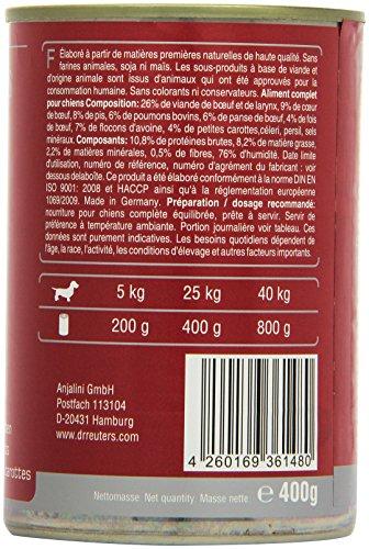 Dr. Reuter's Hundefutter Rind mit Haferflocken und Möhrchen, 6er Pack (6 x 400 g) - 3