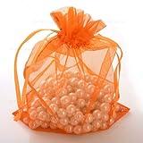 11x16cm 50 pcs orange Brand New Luxury Organza Wedding Favor Gift Bags Jewellery Pouch Pouches (orange)