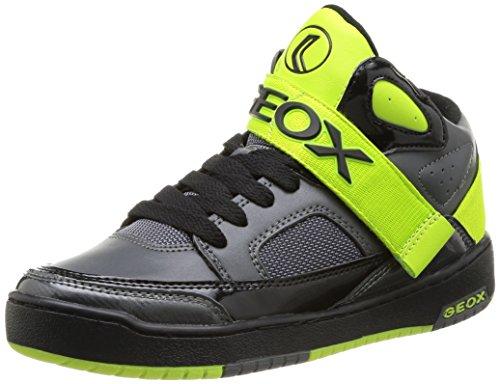 Geox JR ORACLE Jungen Hohe Sneakers Grau (DK GREY/LIMEC1267)