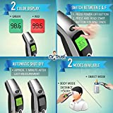 Dr Trust (USA) Forehead Digital Infrared Thermometer for babies and Adults with color Coded Fever Guidance (silver)