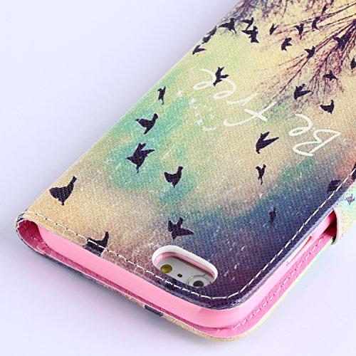 """MOONCASE iPhone 6 Plus Case Coque en Cuir Portefeuille Housse de Protection Étui à rabat Case pour iPhone 6 Plus (5.5"""") 21"""