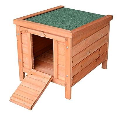 "Pawhut 20"" Wooden Rabbit Hutch Bunny Cage Guinea Pig House Pet Habitat Small Animals Ferret by MH STAR UK LTD"
