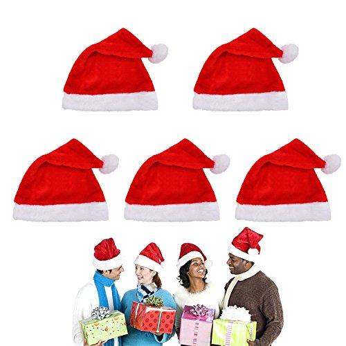 Samt-Weihnachtsmütze - FOCUS AZ Bestes Weihnachts-Kostüm-Zubehör (5er (Az Kostüme Halloween)