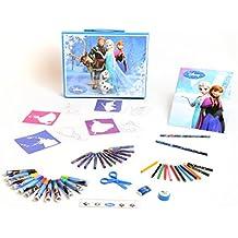 Diset - Fr 90412, Valigetta con accessori per disegnare e colorare, motivo: Frozen