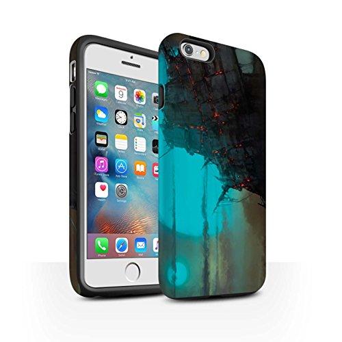 Offiziell Chris Cold Hülle / Matte Harten Stoßfest Case für Apple iPhone 6S+/Plus / Schiffswrack Muster / Gefallene Erde Kollektion Gift Haupt