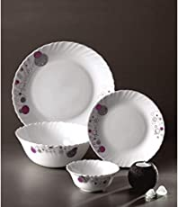 LaOpala Haze Dinner Set, 19-Pieces, Purple