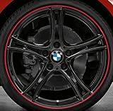 Original BMW Alufelge 2er F22 Doppelspeiche 361 Schwarz mit Rotem Ring in 19 Zoll für hinten