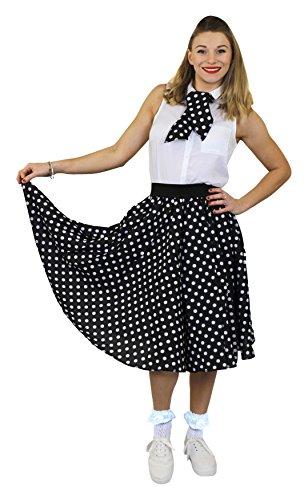 Röcke Mit Dot Kostüm Polka - ILOVEFANCYDRESS I Love Fancy Dress ilfd4515os Damen Kostüme mit lang Polka Dot Rock (Standard)