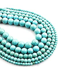 f0b4d28a49ca Febelle Natural Kallaite Gemstone Perlas Sueltas para DIY joyería  fabricación y…