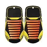 Mxssi Cordones Elásticos Zapatillas No Tie Shoelaces - Impermeables Multicolor 16 Piezas Silicona Cordones de Zapatos para Adultos Plano Sneaker Boots Sin Corbata Cordones