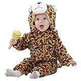 MICHLEY BéBé Grenouillères Animal Combinaison Automne hiver Barboteuse Enfant Flanelle Filles Costume baozi-90cm