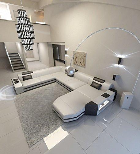 Sofa Dreams Prato Canapé de Salon avec éclairage et appuie-tête XXL