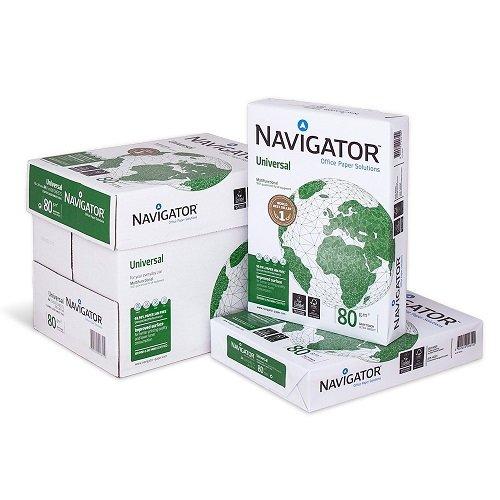 Caja de 2500 Folios Navigator Universal 5x Paquete 500 hojas A4 80g Multifuncion