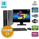 Pack PC HP Compaq 6200 Pro SFF Core i3 3.1GHz 16 GB 500GB DVD WIFI W7 + Bildschirm 17