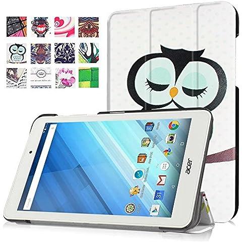 Acer Iconia One 8 B1-850 Funda, FEING Tableta Funda Estuche protector PU Carcasa Cáscara para Acer Iconia One 8 B1-850 8