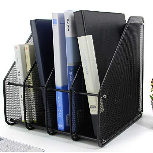 WJH Metalltisch Veranstalter, Multilayer-Speicher-Rack, Display Regal Mode-bücherregal Schreibtisch Veranstalter Bücherregal Einfache Montage Für Office-d 29x31x31cm(11x12x12inch) (Zoll Metall 12 Regale)