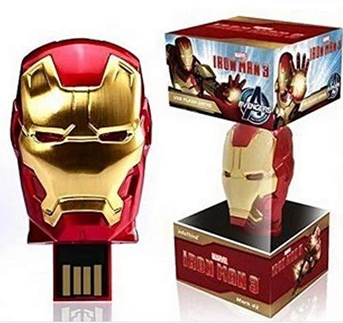 25 - Memorias USB Pen-Drive Memoria Flash Drive Pulgar Unidad Avengers Series Super Heroes Disco Flash USB Regalo Personalizado De Moda Disco U 4 GB A 128 GB (64 GB, Iron Man 3)