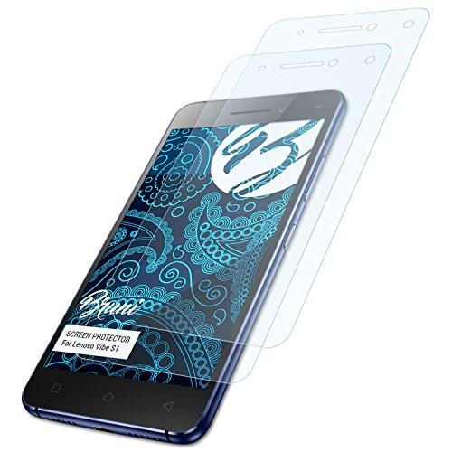 Bruni Schutzfolie für Lenovo Vibe S1 Folie, glasklare Bildschirmschutzfolie (2X)