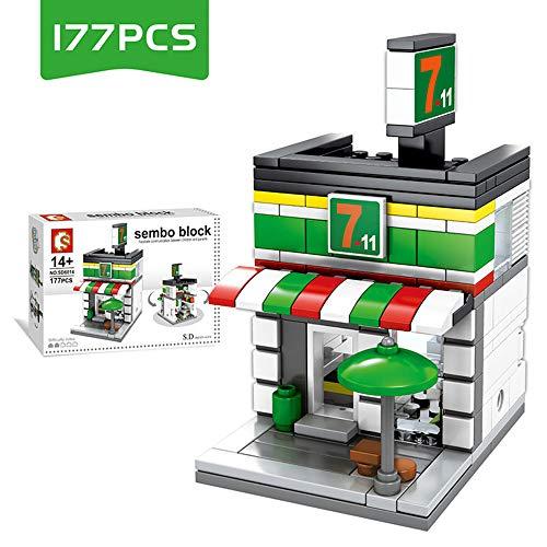 WJX Best Kids Toy, Building Bricks, Building Blocks House, Educational Construction Engineering Building Blocks Learning Set for Boys & Girls,B