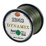 WFT Round Dynamix 1000m geflochtene Angelschnur, Durchmesser:0.25mm;Farbe:Gr�n